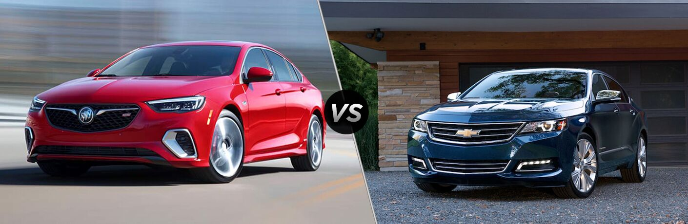 2018 buick regal sportback vs 2018 chevrolet impala