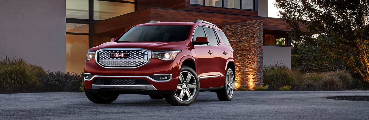 2018 GMC Acadia Denali parked in driveway