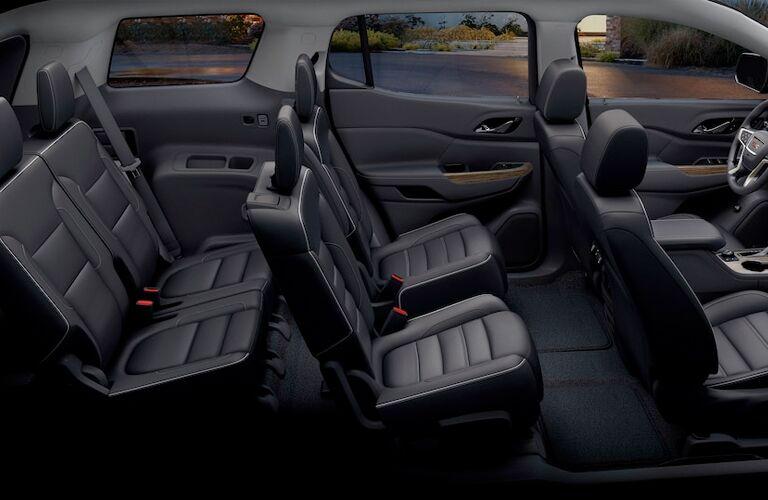 2018 GMC Acadia interior passenger seating area