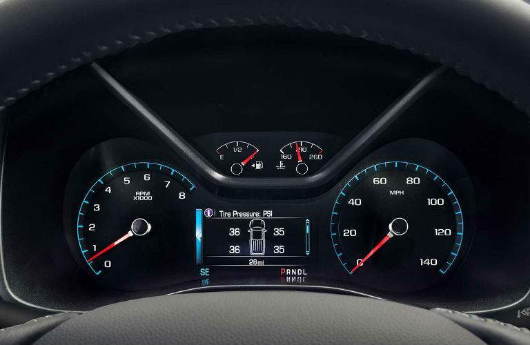 Drivers instrument panel of the 2018 GMC Canyon