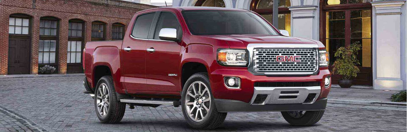 2018 GMC Canyon Denali parked on street