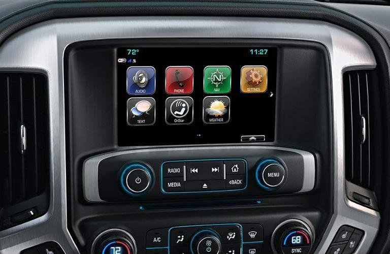 2018 GMC Sierra 1500's color touchscreen