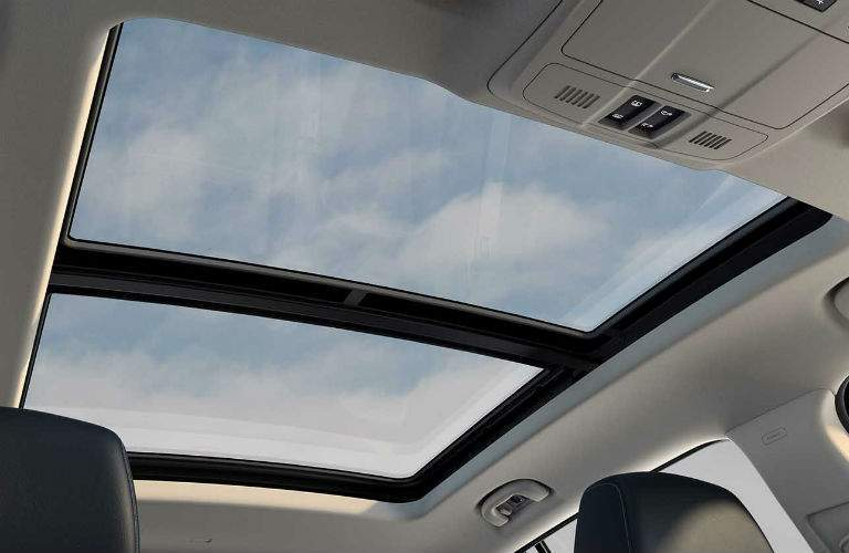 Looking out the sun roof of the 2018 Buick Envision