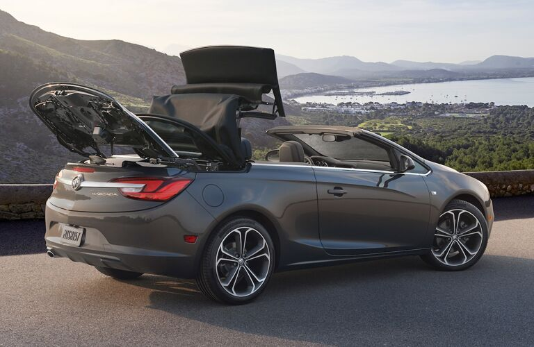 2019 Buick Cascada parked and putting the roof down