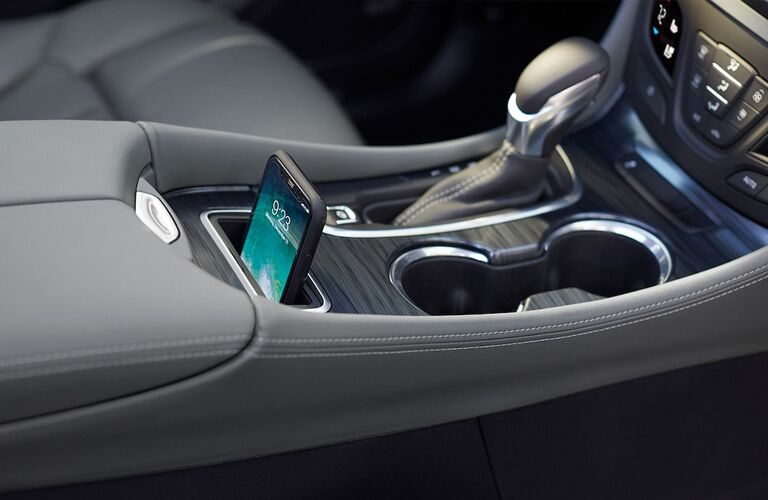 2019 Buick Envision center console with Smartphone charging