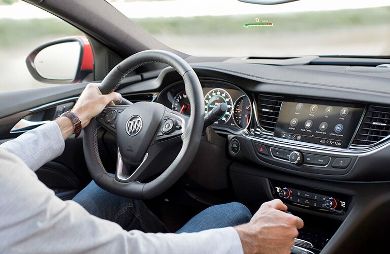 2019 Buick Regal GS dashboard and steering wheel