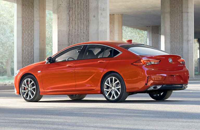 2019 Buick Regal GS parked showing side and rear profile