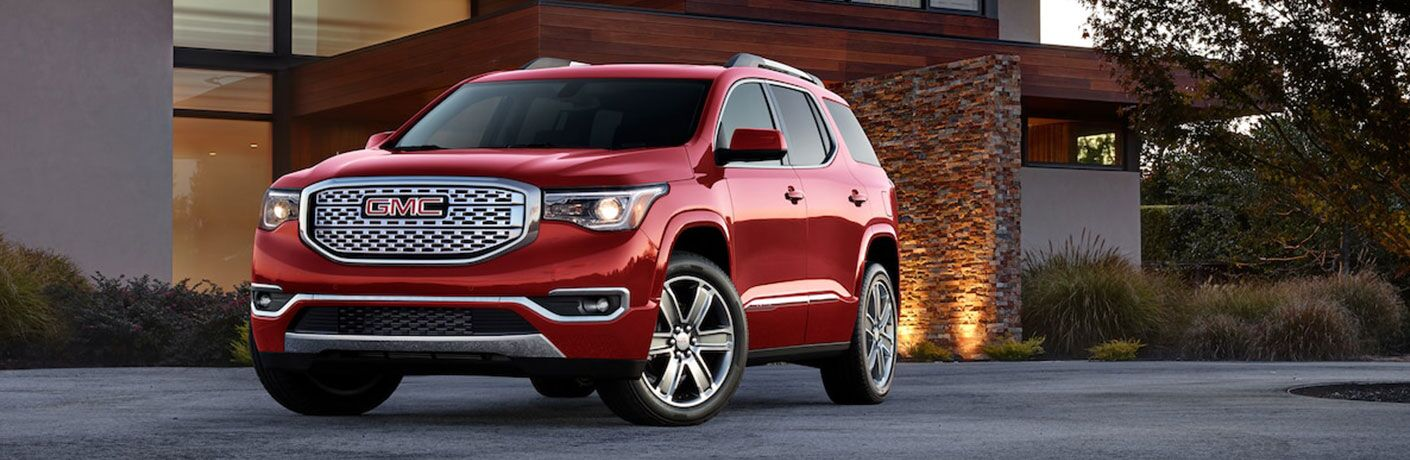 2019 GMC Acadia Denali parked in a driveway