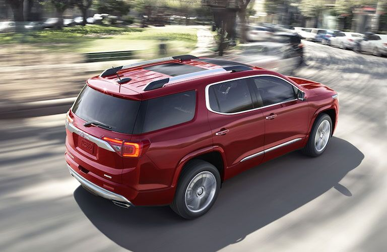 2019 GMC Acadia driving on a road
