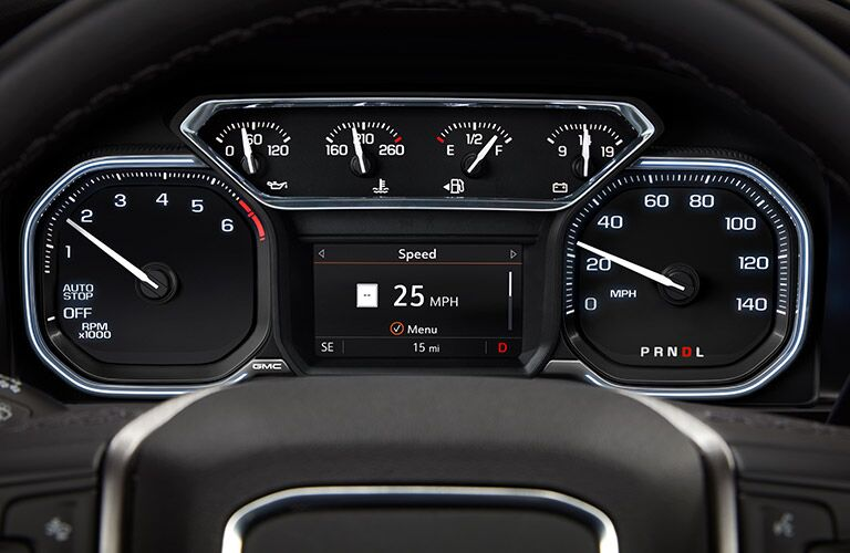 2019 GMC Sierra 1500 Denali performance gauges