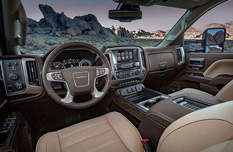 2019 GMC Sierra 2500HD Denali front seats and dashboard