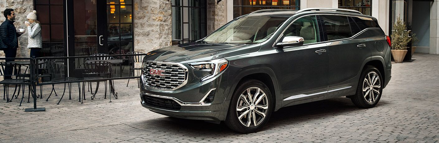 2019 GMC Terrain Denali parked showing side profile