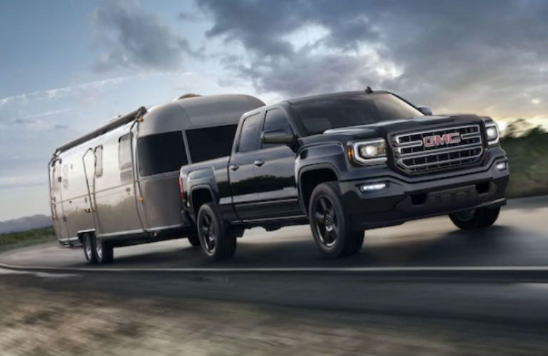 2019 GMC Sierra 1500 Limited towing a camper