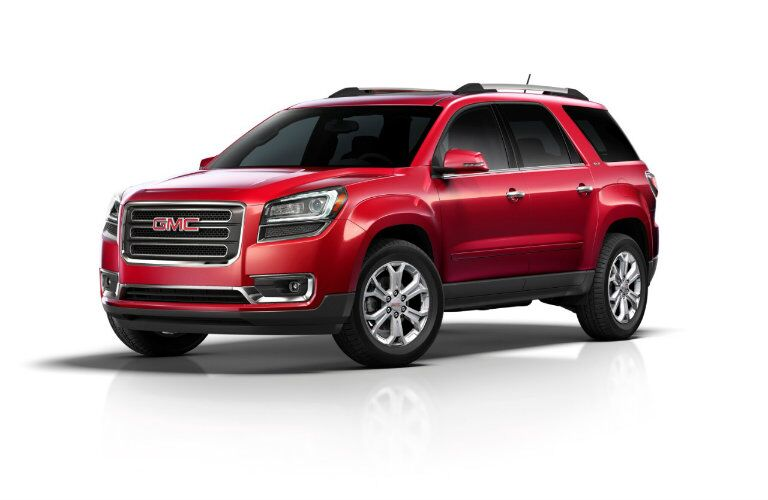2016 GMC Acadia in red