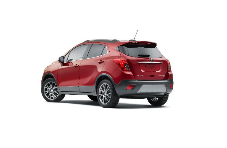 Rear profile of 2016 Buick Encore