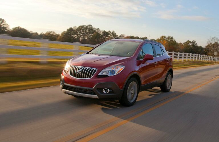 2016 Buick Encore on the road