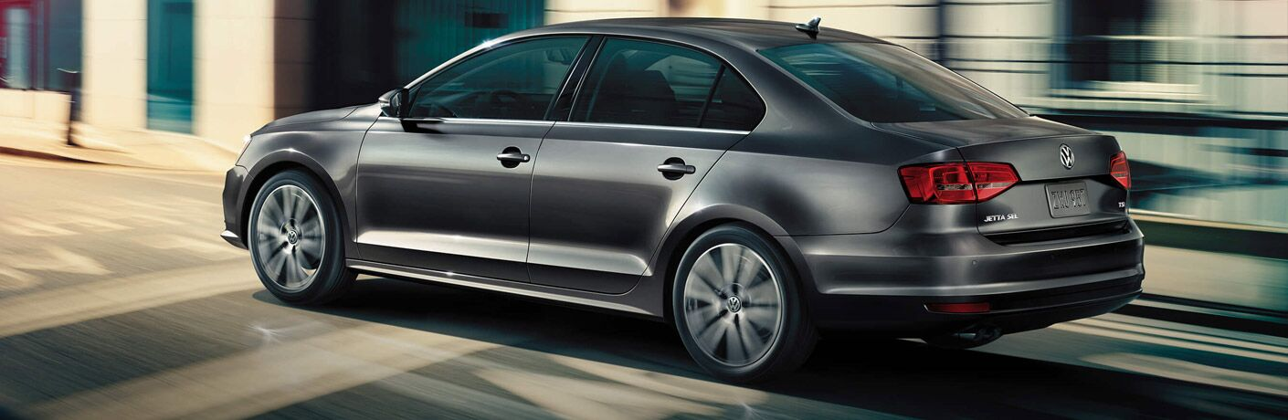 black 2017 VW Jetta exterior rear