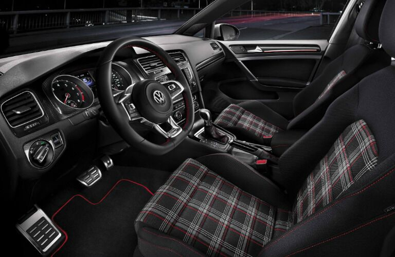 2017 VW Golf GTI interior seating