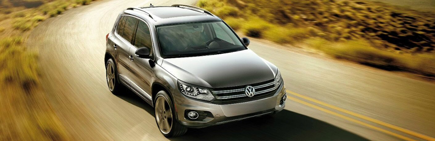 2017 Volkswagen Tiguan driving on desert road