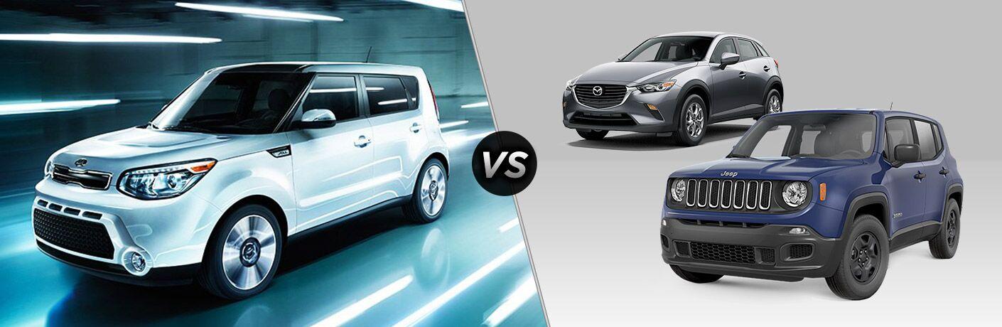2016 Kia Soul vs 2016 Jeep Renegade vs 2016 Mazda CX-3