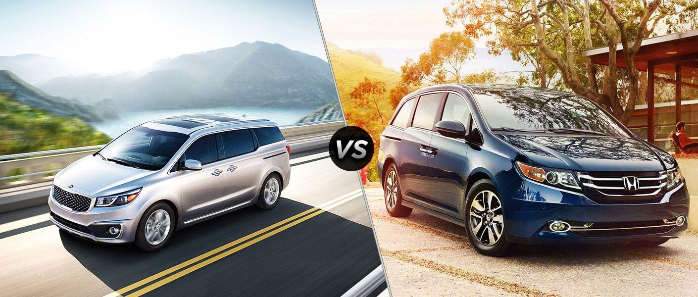 2016 Kia Sedona vs 2016 Honda Odyssey minivans Airport Kia of Naples FL