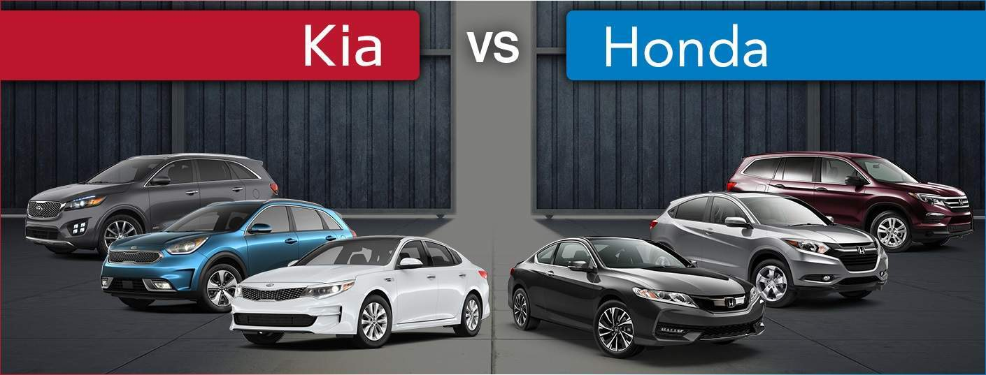Kia vs. Honda models Optima vs. Accord Sorento vs. Pilot Niro vs. HR-V