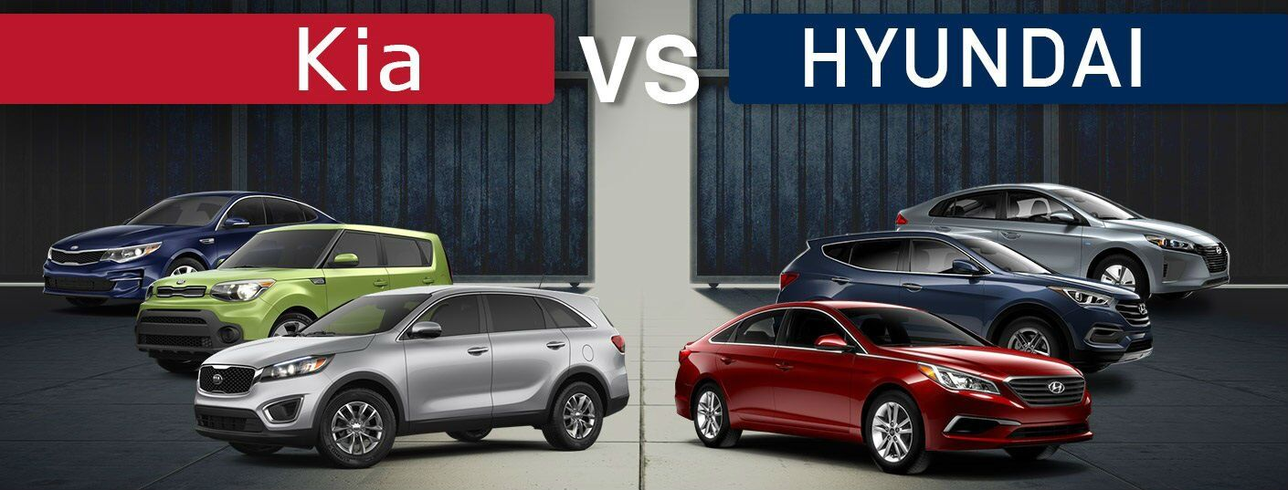 Kia models vs. Hyundai models Sorento vs. Santa Fe and Sportage vs. Tucson