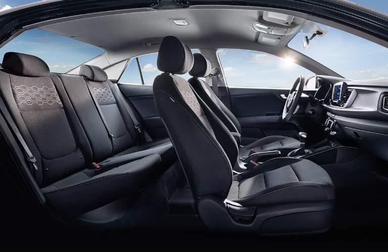 Interior seating in the 2018 Kia Rio