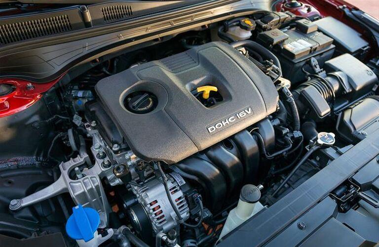 2019 Kia Forte close up of engine