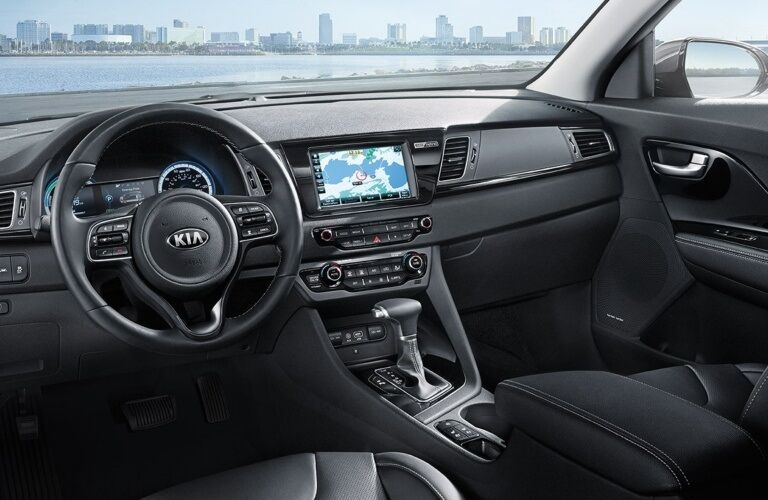 Cockpit view of a 2019 Kia Niro