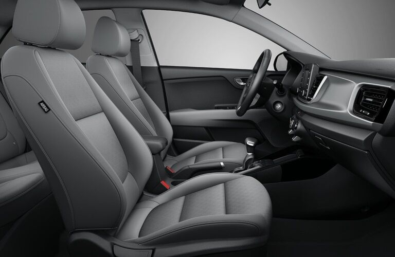 Interior seating of the 2019 Kia Rio