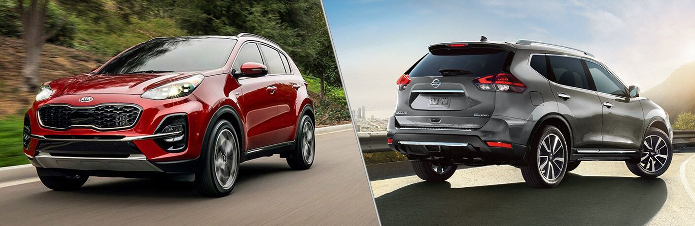 2020 Kia Sportage and 2019 Nissan Rogue