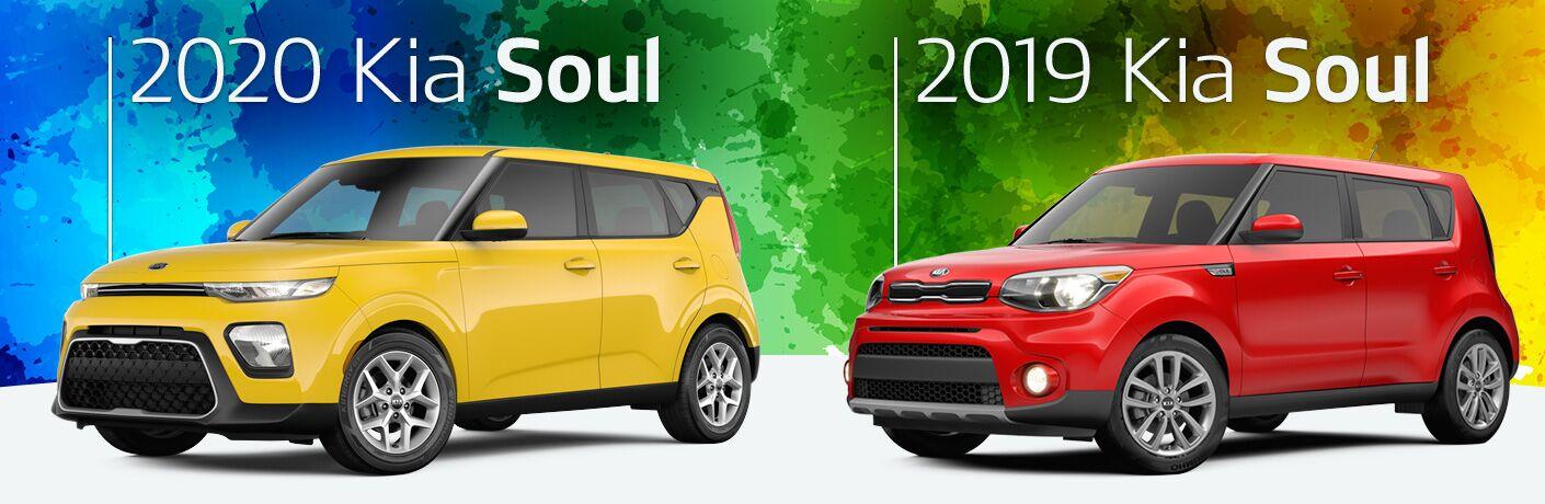 2020 Kia Soul and 2019 Kia Soul