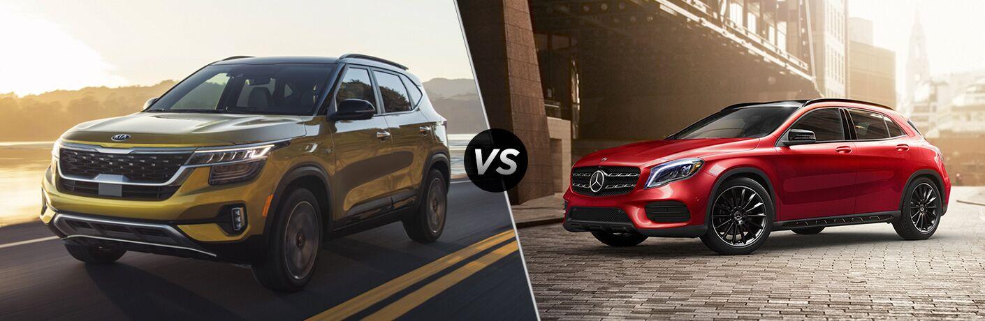 2021 Kia Seltos vs 2020 MB GLA SUV