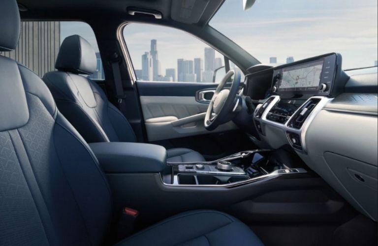 Image showing the front passenger seats and dash of the 2022 Kia Sorento Plug-in hybrid
