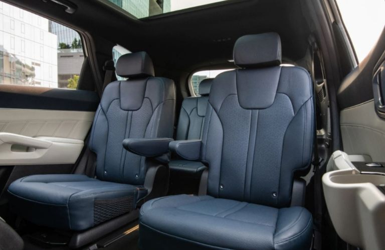 Image showing the 2nd row captain's chairs inside the 2022 Kia Sorento plug-in hybrid