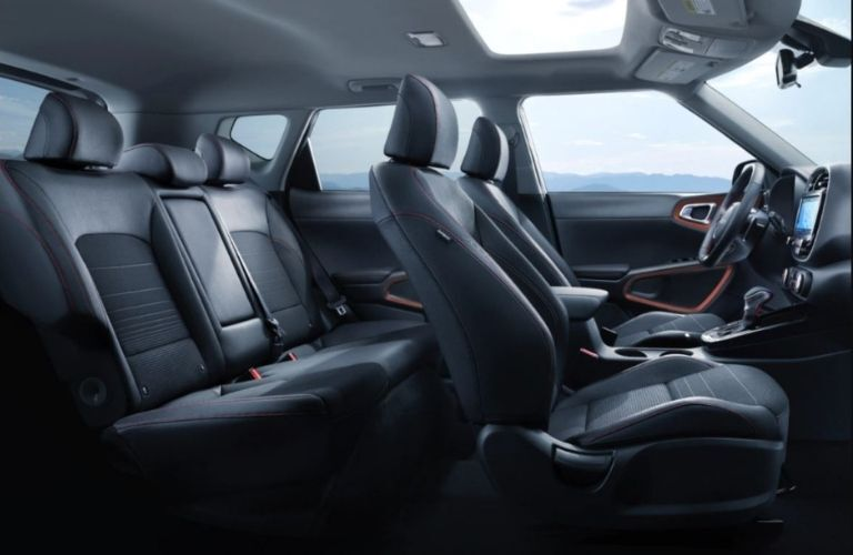 Image showing the roomy and airy interior passenger seats in the 2022 Kia Soul