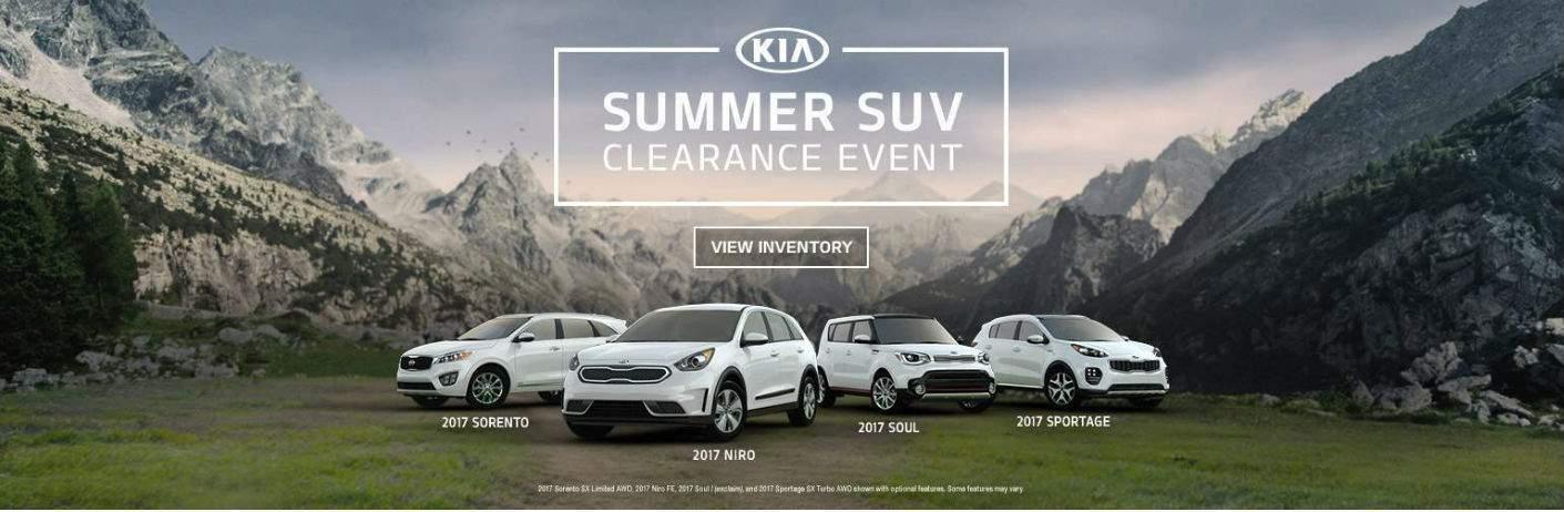 2017 Kia Summer SUV Clearance Event with Sorento Sportage Niro and Soul Naples FL