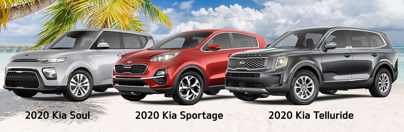 2020 Kia Soul Sportage Telluride SUV models