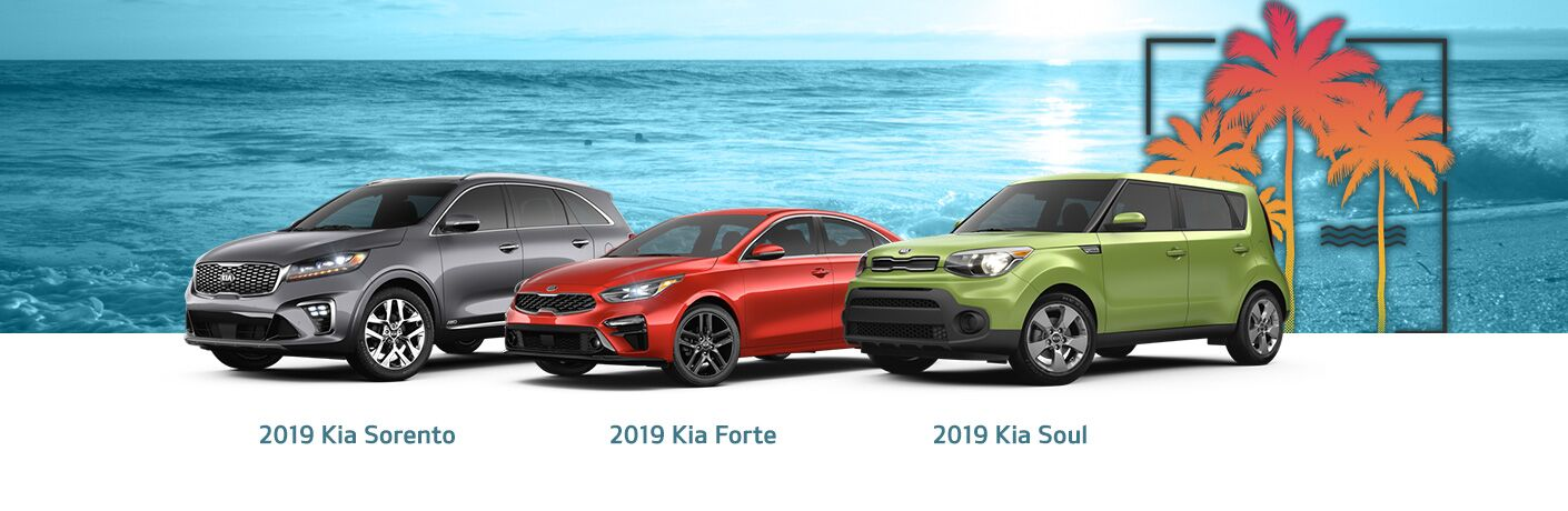 2019 Kia Sorento Forte and Soul models side by side