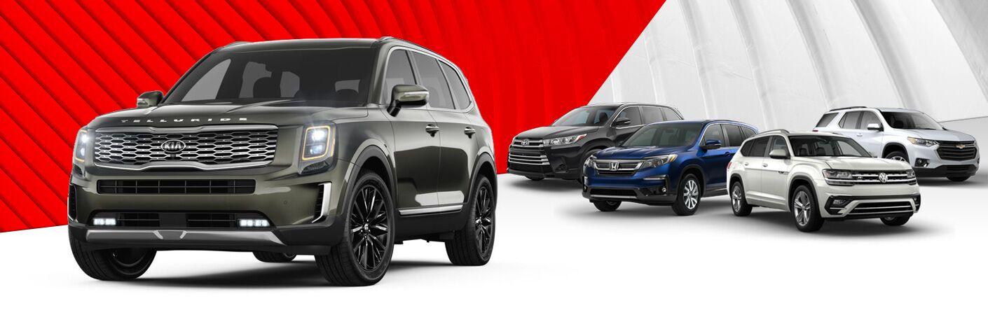 2020 Kia Telluride 2020 Honda Pilot 2020 Chevrolet Traverse 2019 Volkswagen Atlas