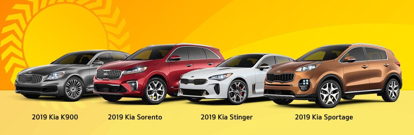 2019 Kia K900 Sorento Stinger Sportage
