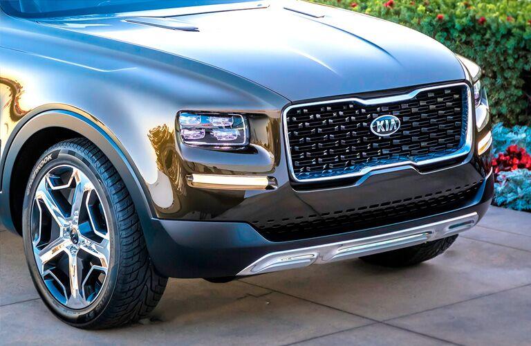 2020 Kia Telluride exterior close up of front fascia