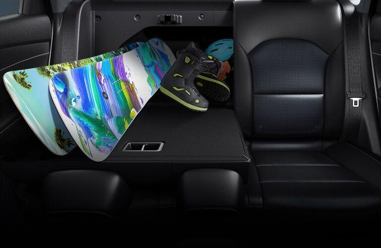 2021 Forte folding rear seat showcase
