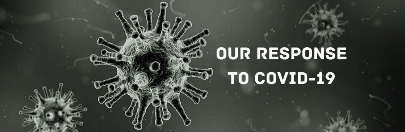 Our response to COVID-19 germ graphic image