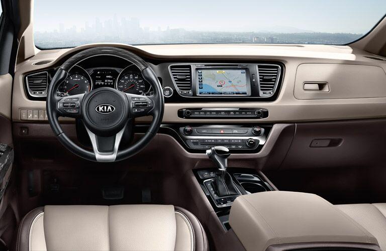 2016 Kia Sedona minivan interior comforts Patterson Kia