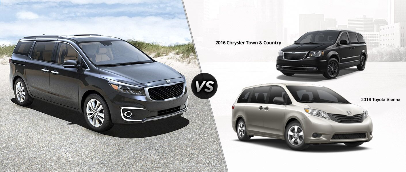 2016 Kia Sedona vs. 2016 Chrysler Town & Country vs. 2016 Toyota Sienna