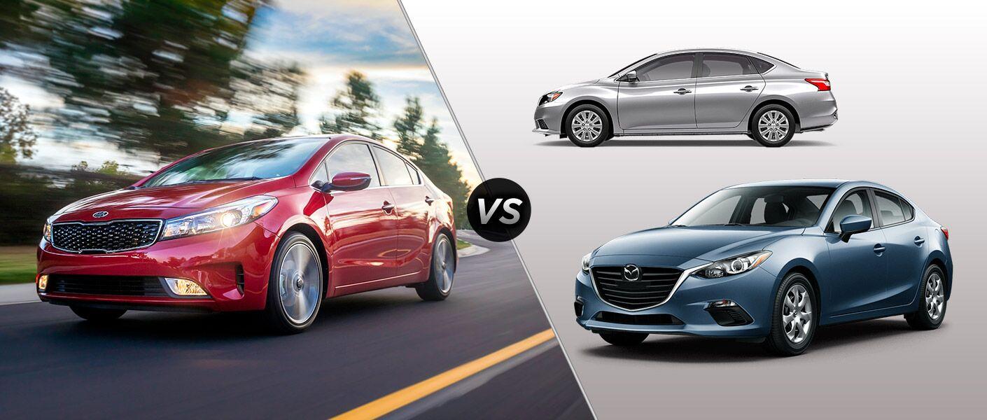 2017 Kia Forte Vs 2016 Nissan Sentra Vs 2016 Mazda3 4 Door