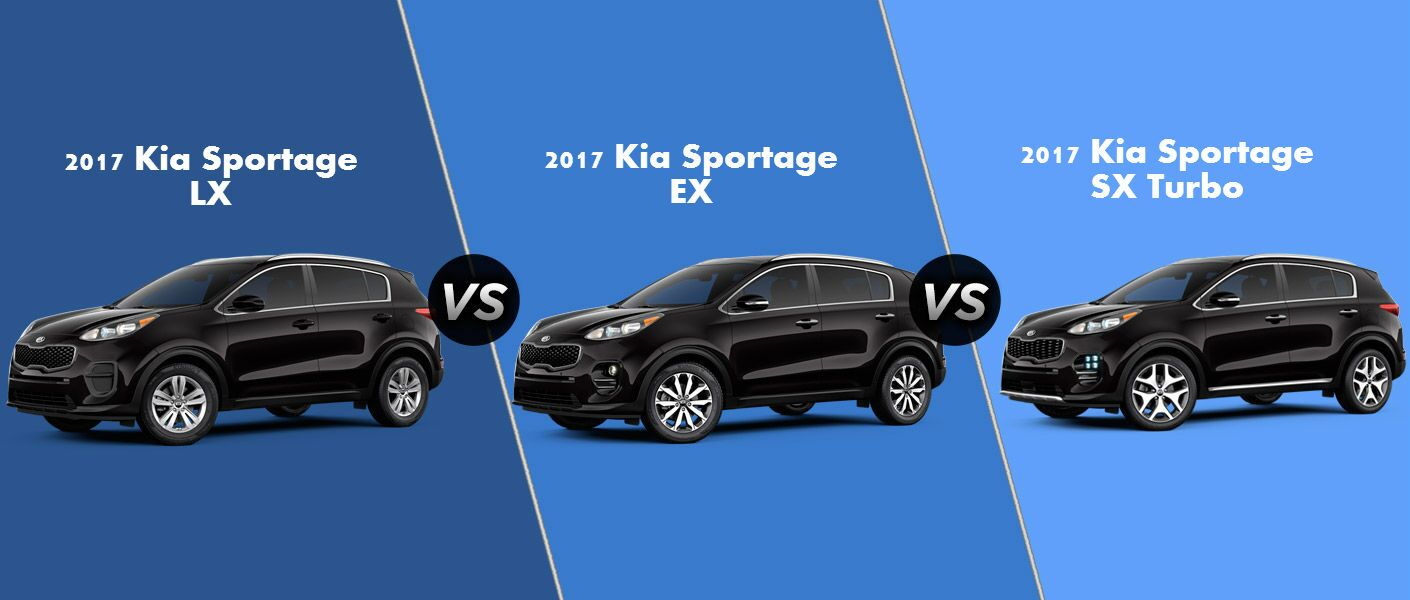 2017 Kia Sportage EX vs. LX vs. SX Turbo trim levels
