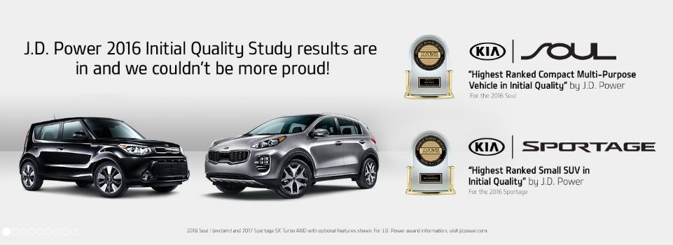 2016 Kia Soul 2016 Kia Sportage J.D. Power Initial Quality Study
